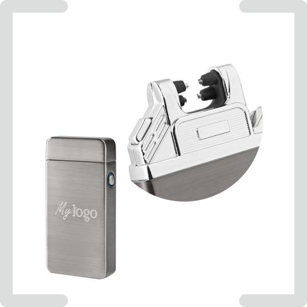 Lichtbogenfeuerzeuge mit USB-Aufladung und Werbung graviert