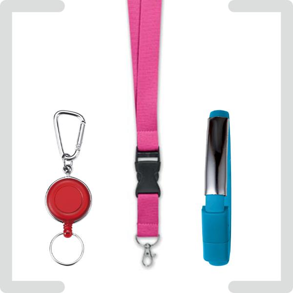 Schlüsselbänder und Armbänder