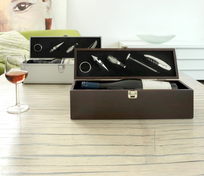 Luxus-Weinset 'Alu-Line'