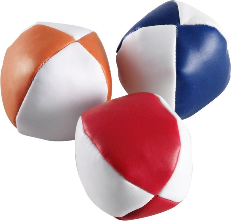 Jonglierbälle 'Triple' aus Kunstleder
