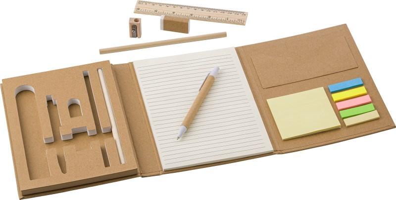 Schreibmappe 'Student' aus Karton inkl. Zubehör