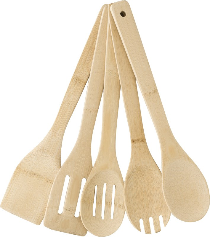 Besteck-Set 'Madeira' aus Bambus