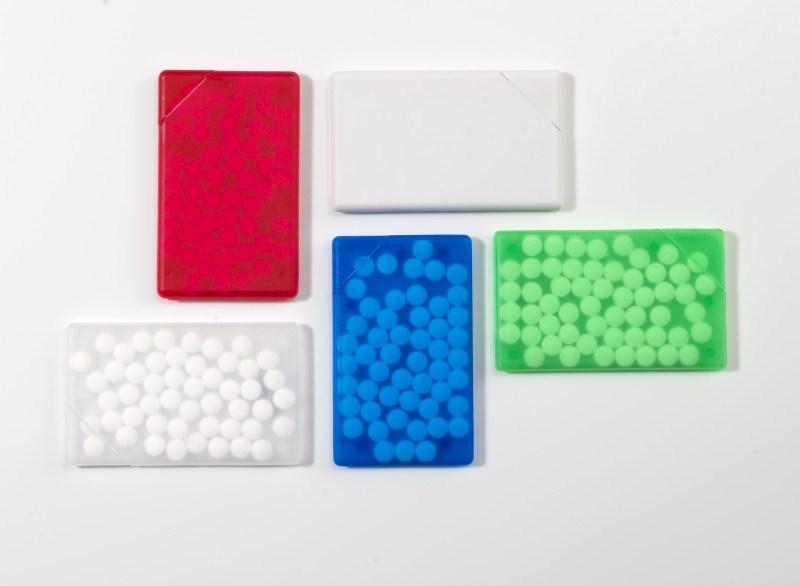 Pfefferminzbonbons 'Quadro' aus Kunststoff