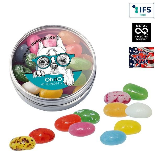 Klarsichtdose mit American Jelly Beans