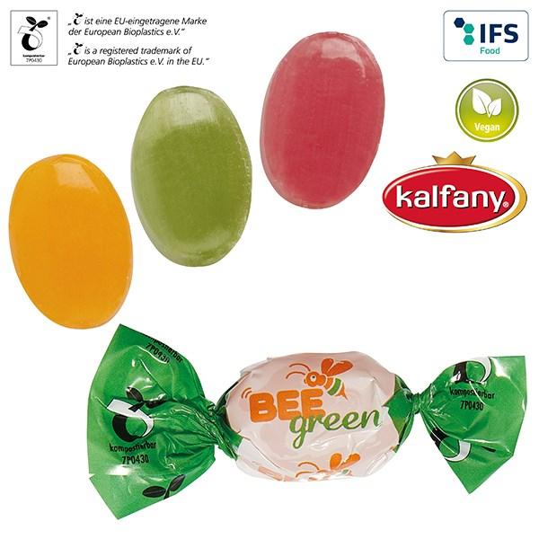 Bonbons im kompostierbaren Werbewickel