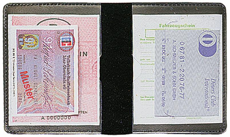 """CreativDesign Ausweistasche """"LefastoffOffenkantig"""" schwarz"""
