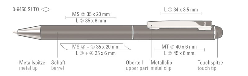 STRAIGHT SI TOUCH Touchpen