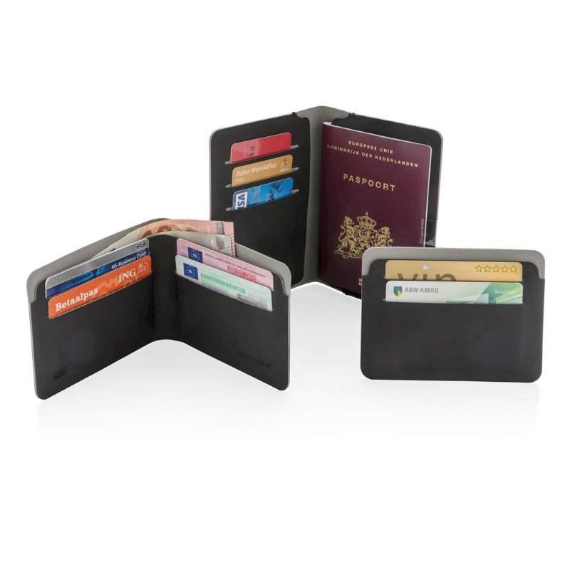 Quebec RFID Geldbeutel / Geldbörse schwarz