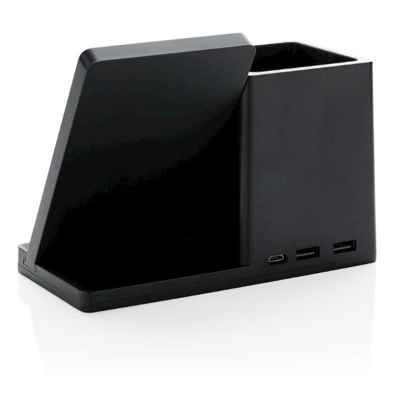 Ontario 5W Wireless Charger und Stiftehalter, schwarz