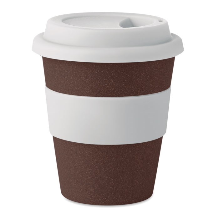 BRAZIL WHITE Trinkbecher aus 50% Kaffeehülsen