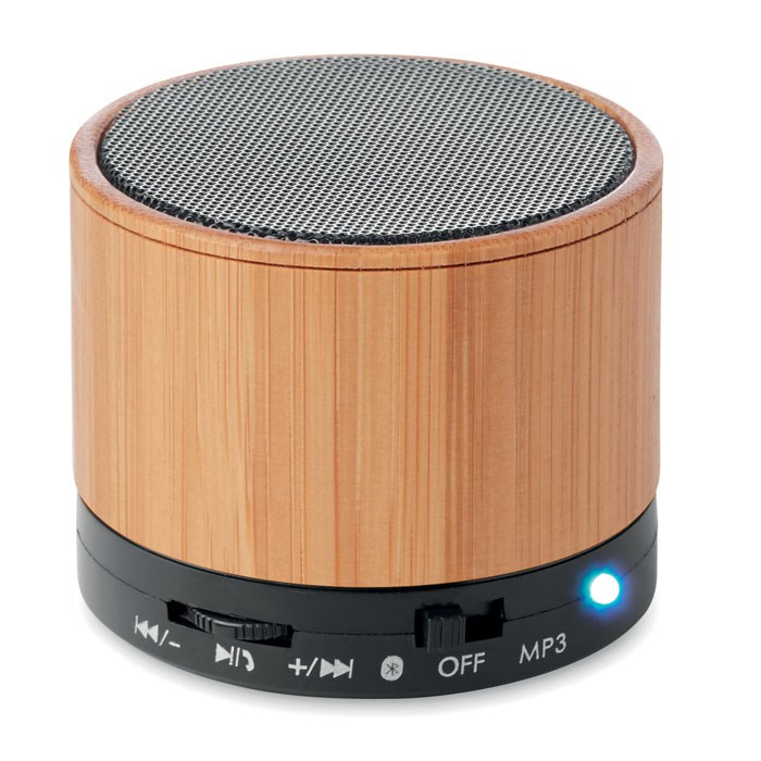 ROUND BAMBOO Bluetooth Lautsprecher