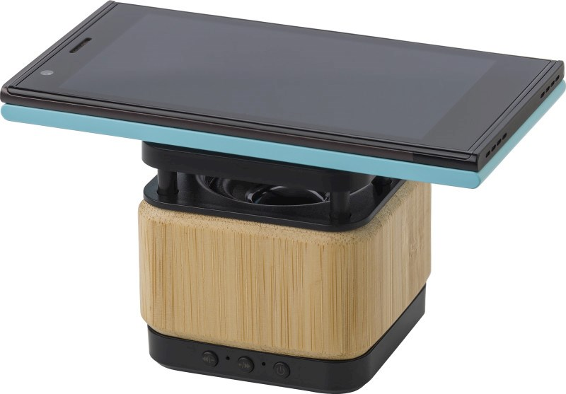 Ariel Drahtloser Bambus- und ABS-Lautsprecher und Ladegerät
