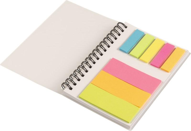Notizbuch 'Colours' mit Ringbindung und Haftnotizen [SALE 40%]
