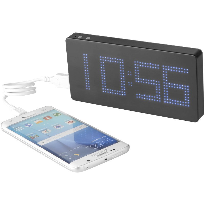 PB 8000 mAh LED Display Powerbank mit Uhr [60% Rabatt]