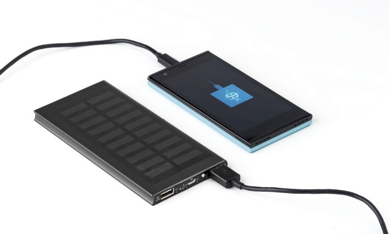 Solar-Aufladegerät 'Sunlight' aus Kunststoff