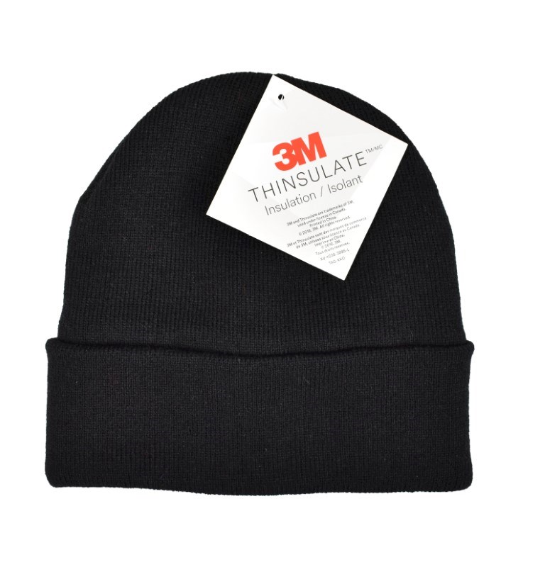 Thinsulate Strickmütze mit Umschlag, schwarz