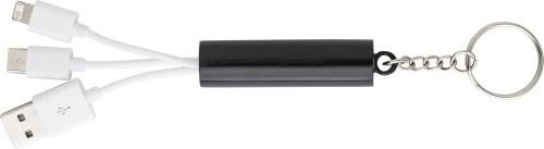 2-in-1 Ladekabel 'Twice' aus Kunststoff