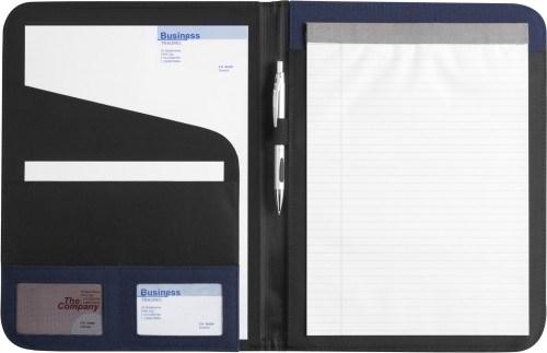 Dokumentenmappe 'Diplomat' aus Polyester/Kunstleder