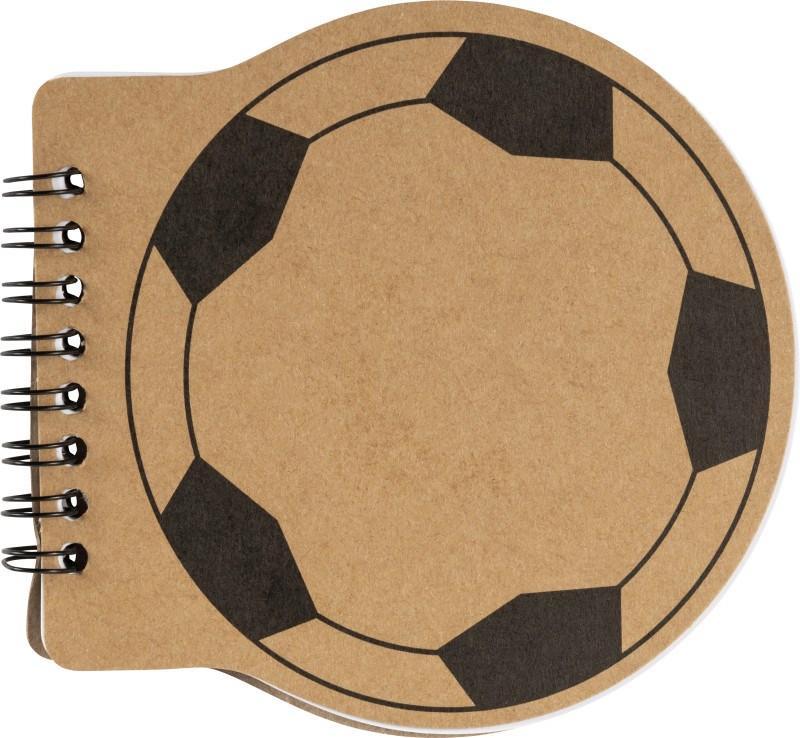 """Notizbuch """"Fussball"""" aus Karton mit Fußball-Aufdruck"""