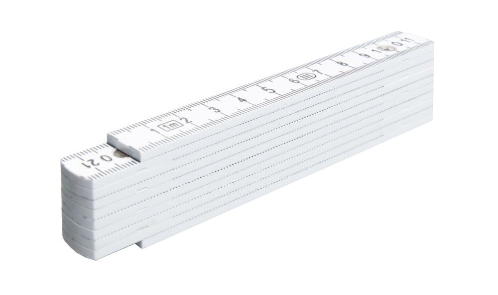 BMI Maßstab / Zollstock aus PVC, Länge 1 m