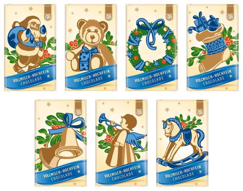 """Feodora-Schokolade """"Weihnachtsmotive"""""""