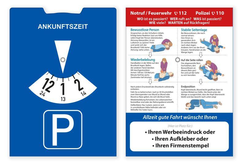 Notfall-Parkscheibe, einfache Ausführung
