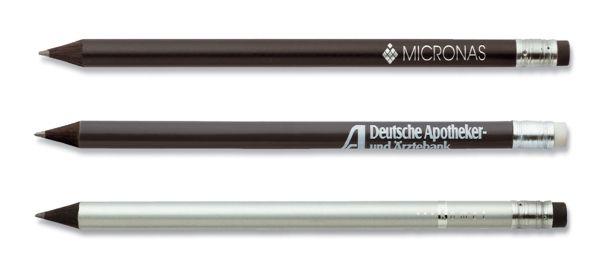 Schwarzer Bleistift Staedtler mit Radierer