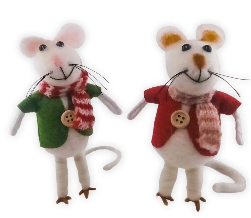 """Mäuschen """"Feifel"""" aus echtem Wollfilz"""