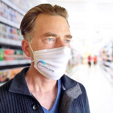 Wiederverwendbare Mund- und Nasenmaske aus 100% zertifizierter Bio-Baumwolle - AUCH FÜR BRILLENTRÄGER