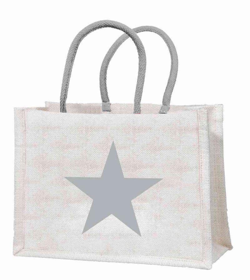 """Einkaufstasche """"Stern"""" aus Jute"""