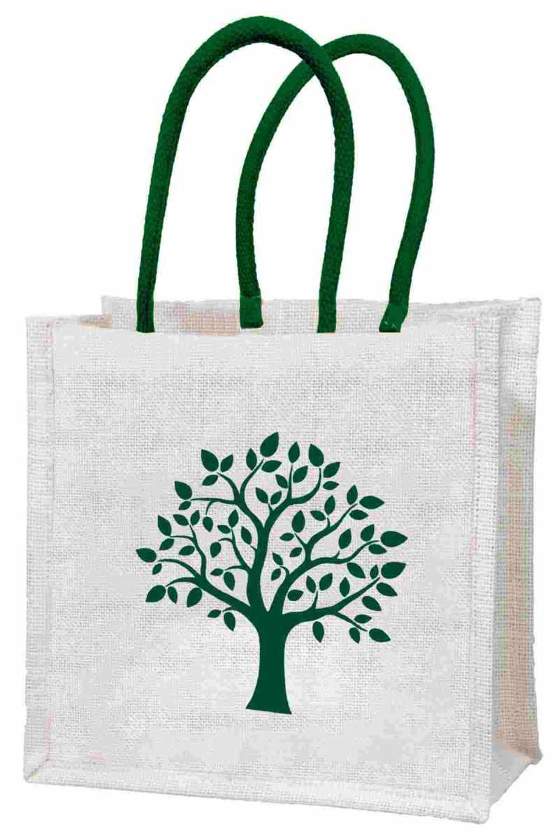 """Geschenktasche """"Baum"""" aus Jute"""