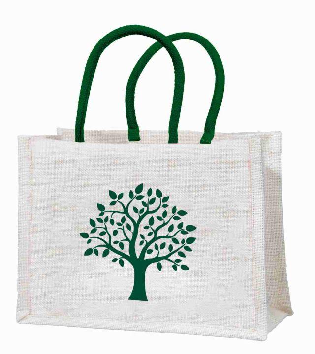 """Einkaufstasche """"Baum"""" aus Jute"""