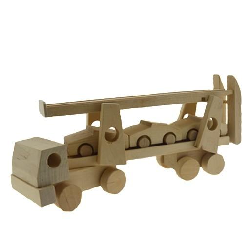 """Autotransporter """"Pondus"""" aus Holz"""