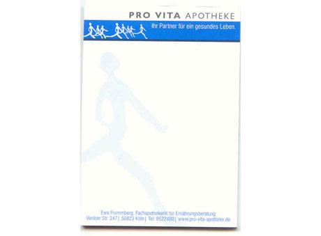 Notizblock 7 x 10 cm, 35 Blatt inklusive einfarbigem Druck