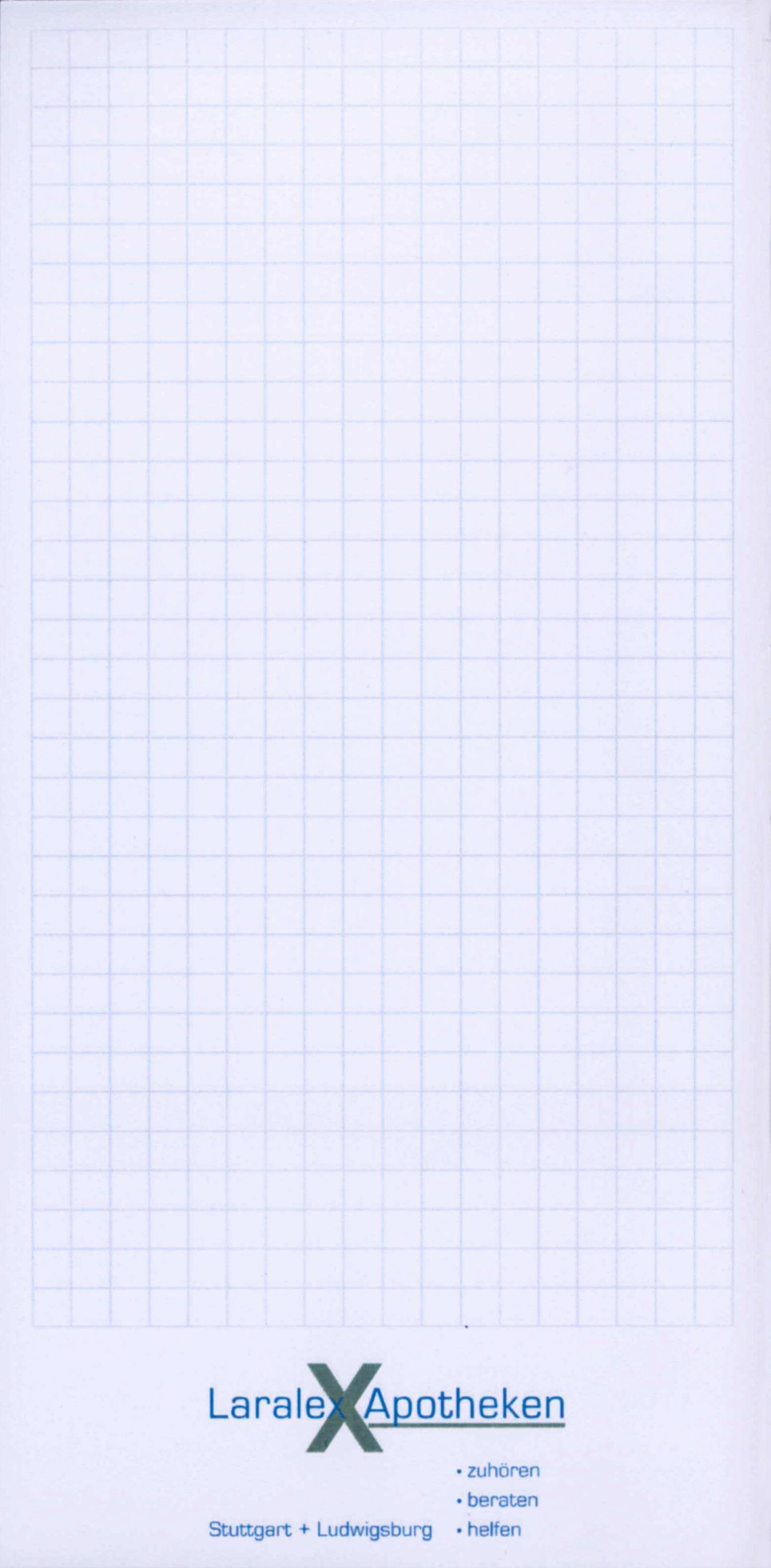 Notizblock 10 x 20 cm, 35 Blatt inklusive einfarbigem Druck