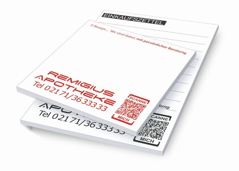 Notizer DIN-A 6 mit Ihrem QR-Code
