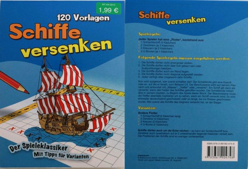 "Vorlagenblock ""Schiffe versenken"""