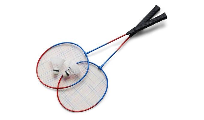 Federballspiel Maße 21 x 2,5 x 68 cm