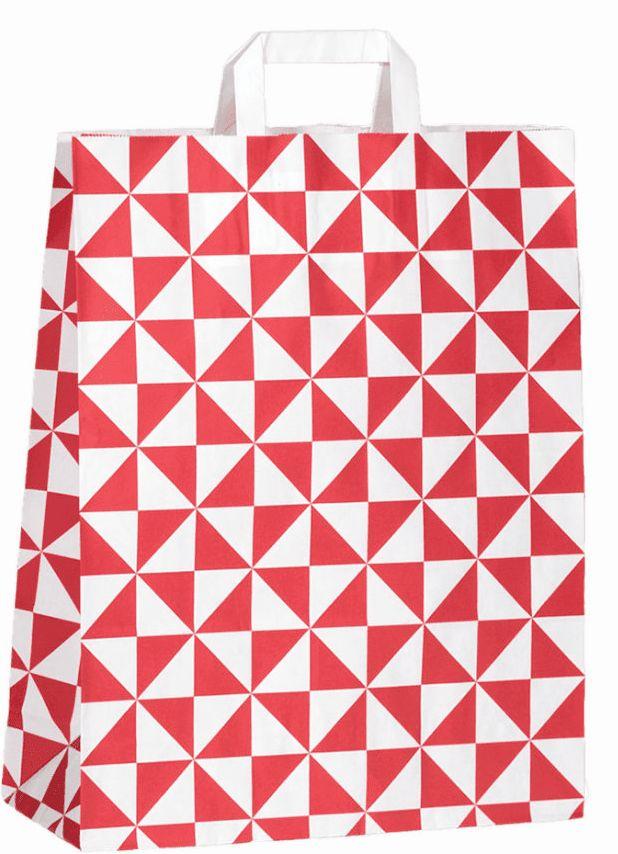 """Papiertragetasche """"Triangel""""  18 x 22 x 8 cm"""