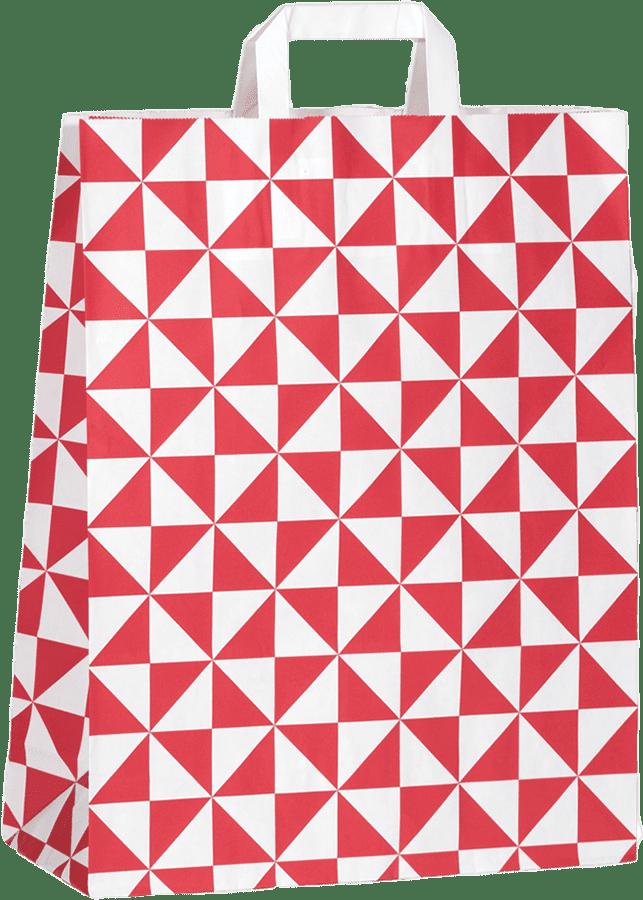 """Papiertragetasche """"Triangel"""" 22 x 31 x 10 cm,"""