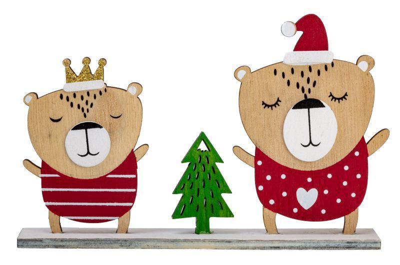 """Figuren """"Weihnachtsbär"""" aus Holz"""