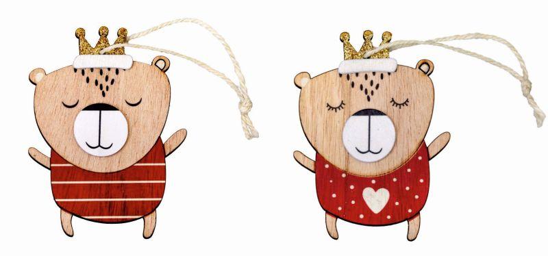 "Großer Anhänger ""Weihnachtsbär"" aus Holz"