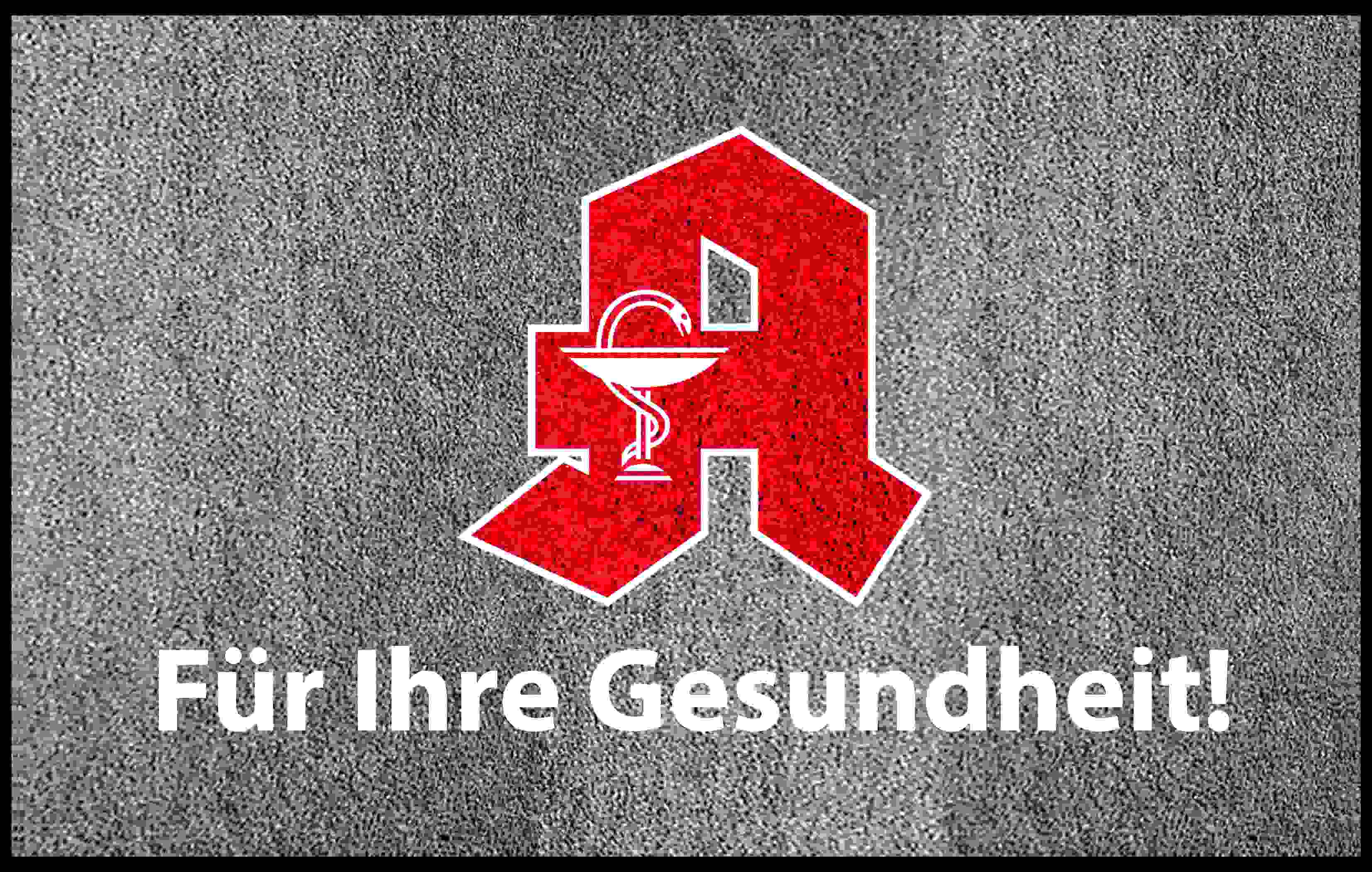 "PREMIUM Schmutzfangmatte ""Apotheken-A""  Maße 180 x 115 cm, in Hellgrau, Querformat"