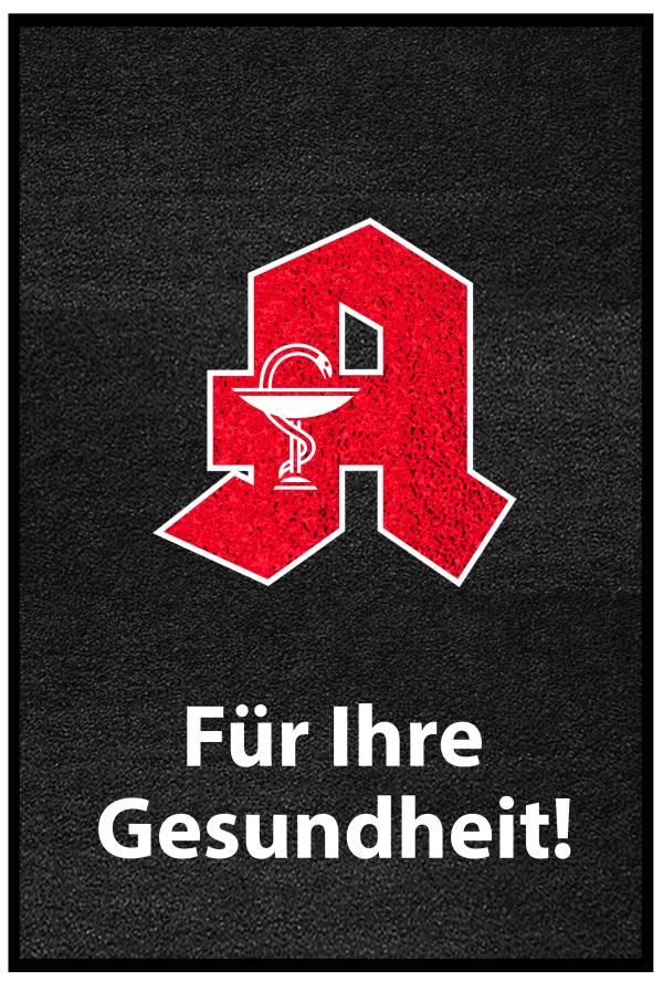 "PREMIUM Schmutzfangmatte ""Apotheken-A""  Maße 85 x 150 cm, in Dunkelgrau, Hochformat"