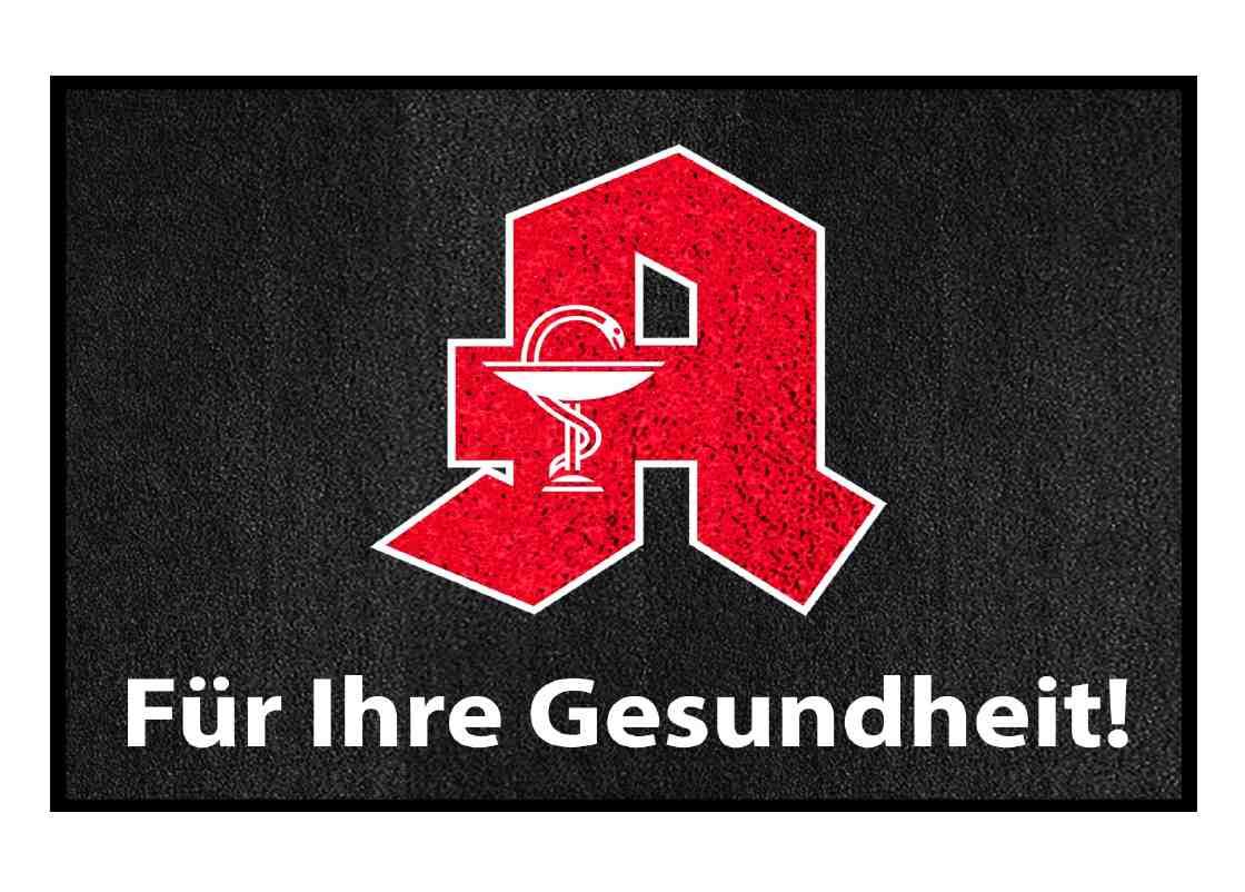 "PREMIUM Schmutzfangmatte ""Apotheken-A""  Maße 150 x 85 cm, in Dunkelgrau, Querformat"