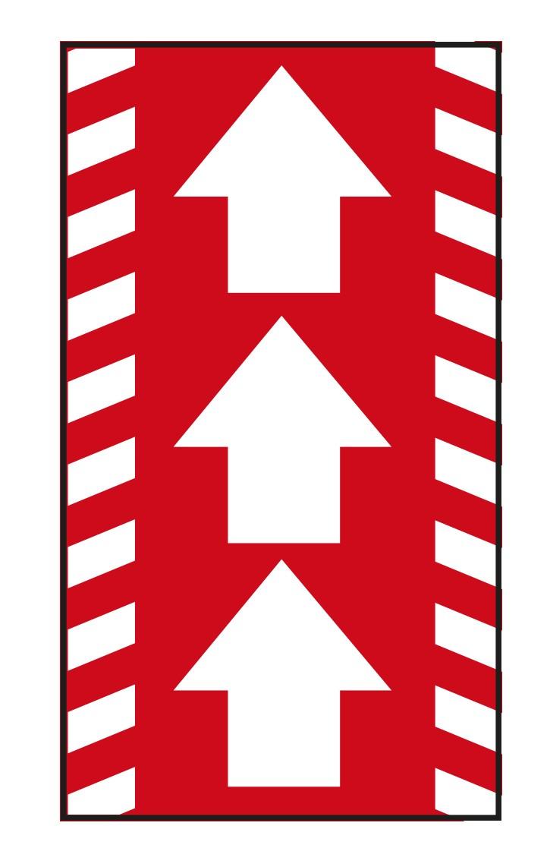 """PREMIUM Schmutzfangmatte """"Richtungspfeile""""  Maße 115 x 180 cm, in Rot, Hochformat"""