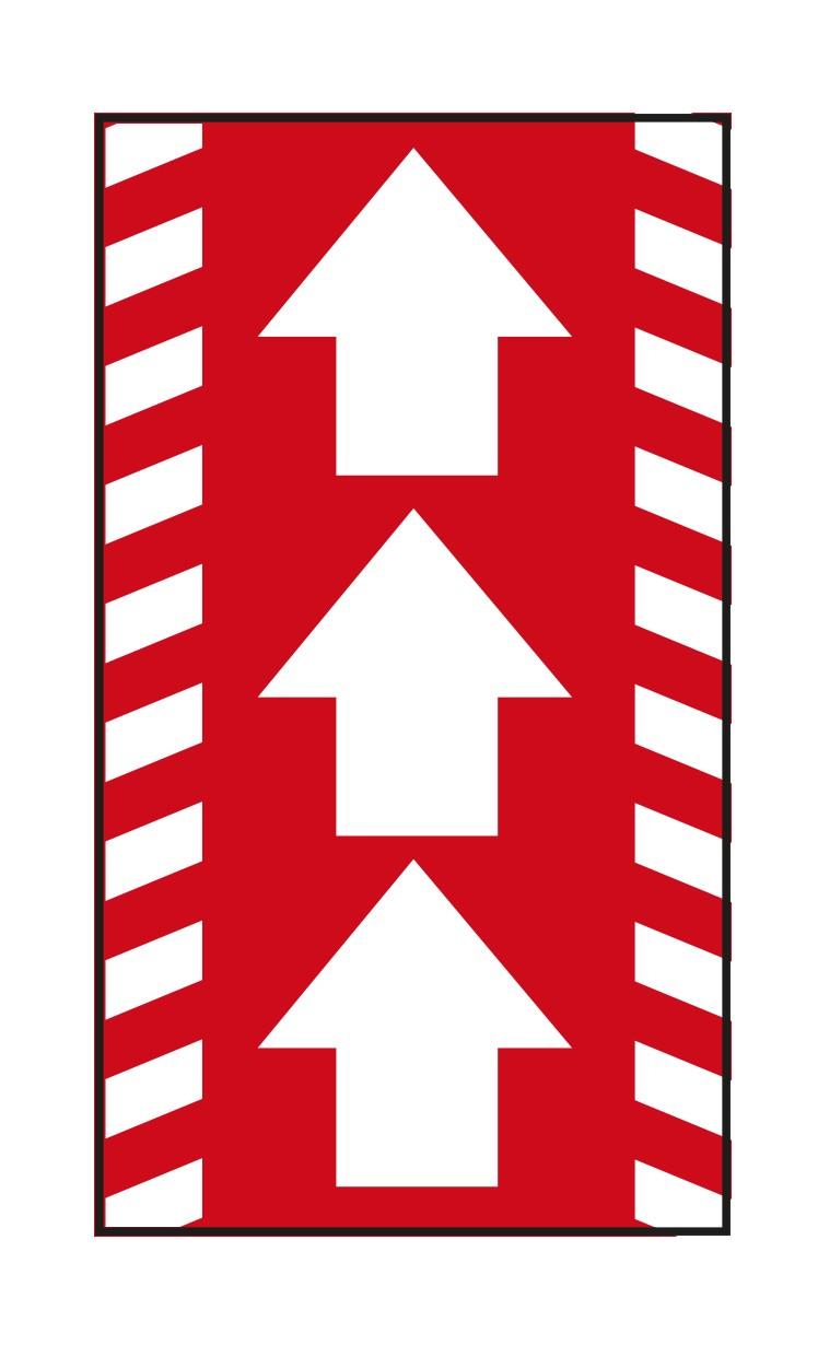 """PREMIUM Schmutzfangmatte """"Richtungspfeile""""  Maße 85 x 150 cm, in Rot, Hochformat"""