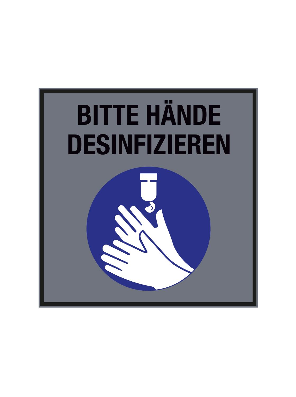 """PREMIUM """"Eyecatcher"""" und Schmutzfangmatte """"Bitte Hände desinfizieren"""" Maße  45 x 45 cm"""