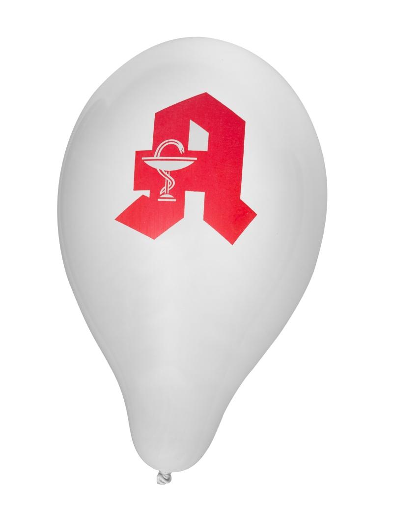 Luftballons weiß mit Apotheken-A