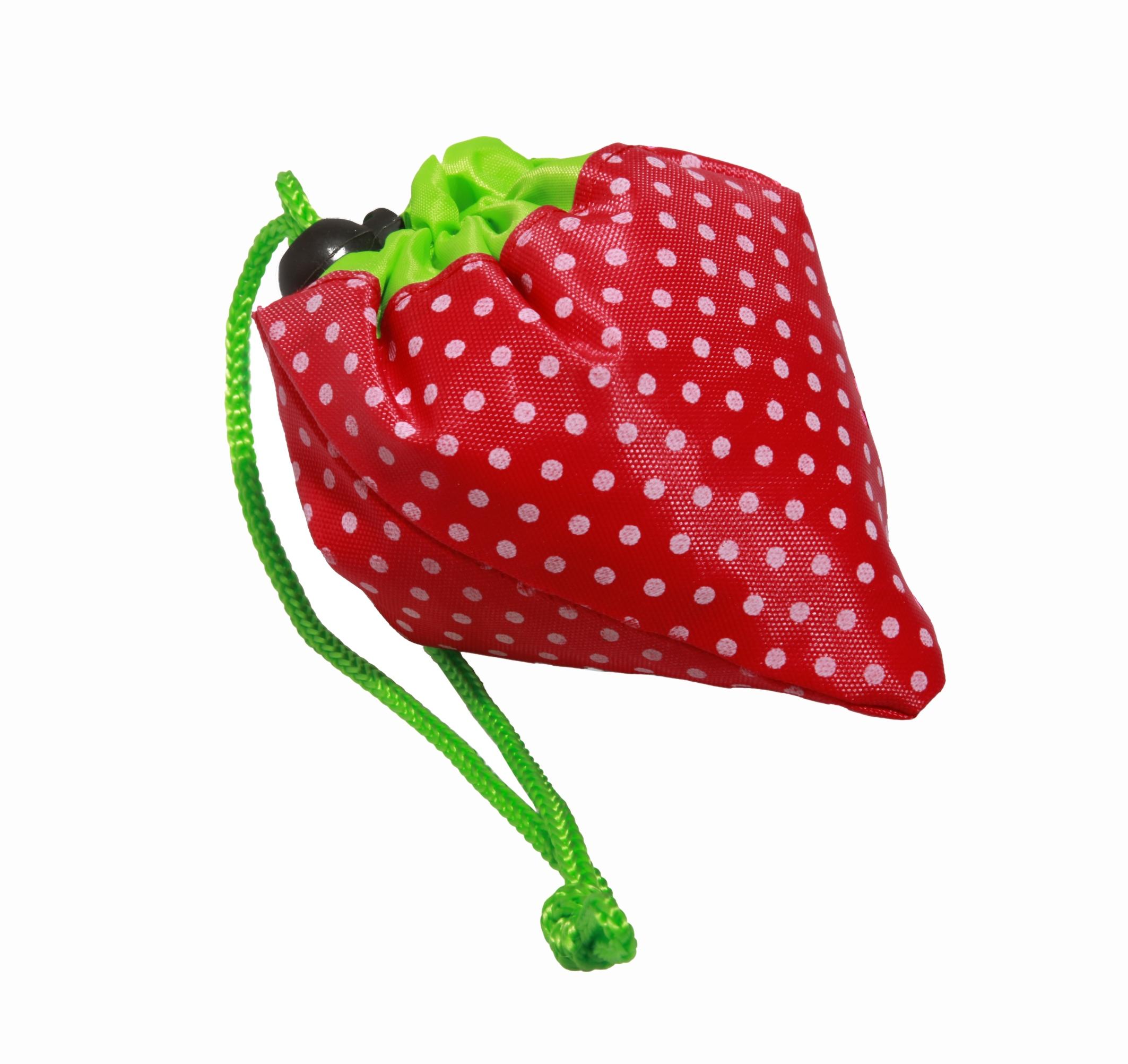 """Einkaufstasche """"Erdbeere"""" aus Polyester Maße 36 x 38 cm"""